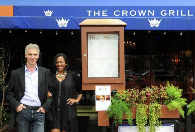 Colin and Christel MacLean, own of Saratoga Juice Bar, on Wednesday Aug. 26, 2015 in Saratoga Springs, N.Y. The MacLeans are selling one of their other Saratoga establishments, Crown Grill, to focus more effort on their high-end juice business. (Michael P. Farrell/Times Union) Photo: Michael P. Farrell / 00033131A