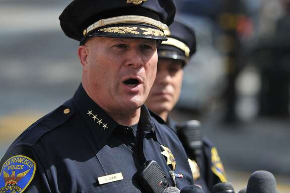 Police Chief Greg Suhr speaks during a press conference to address the shooting of a tourist near Lombard Street the day before in San Francisco on August 26, 2015.  (JOSH EDELSON/SPECIAL TO THE CHRONICLE)