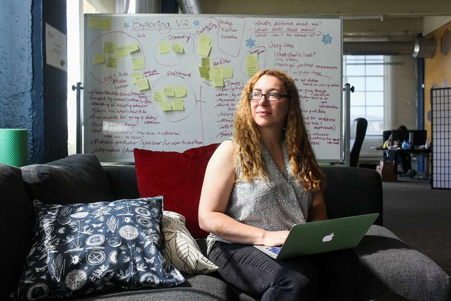 CEO and co- founder Jessica Richman, sits in her office at the biotech company uBiome in San Francisco, California, on Wednesday, Aug. 26, 2015. uBiome, which sequences people's microbiomes received a large amount of Venture Capital funding after getting its start through crowd funding. Photo: Gabrielle Lurie, Special To The Chronicle