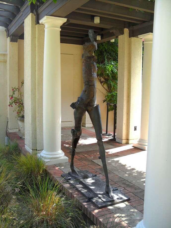 "Stephen De Staebler's 2010 bronze ""Deep Striding Woman"" is installed near the oval garden at Montalvo Arts Center in ""Metaphoric States: Five Bronze Works by Stephen De Staebler"" through Oct. 1.  Credit: Nathan Zanon Photo: Nathan Zanon"