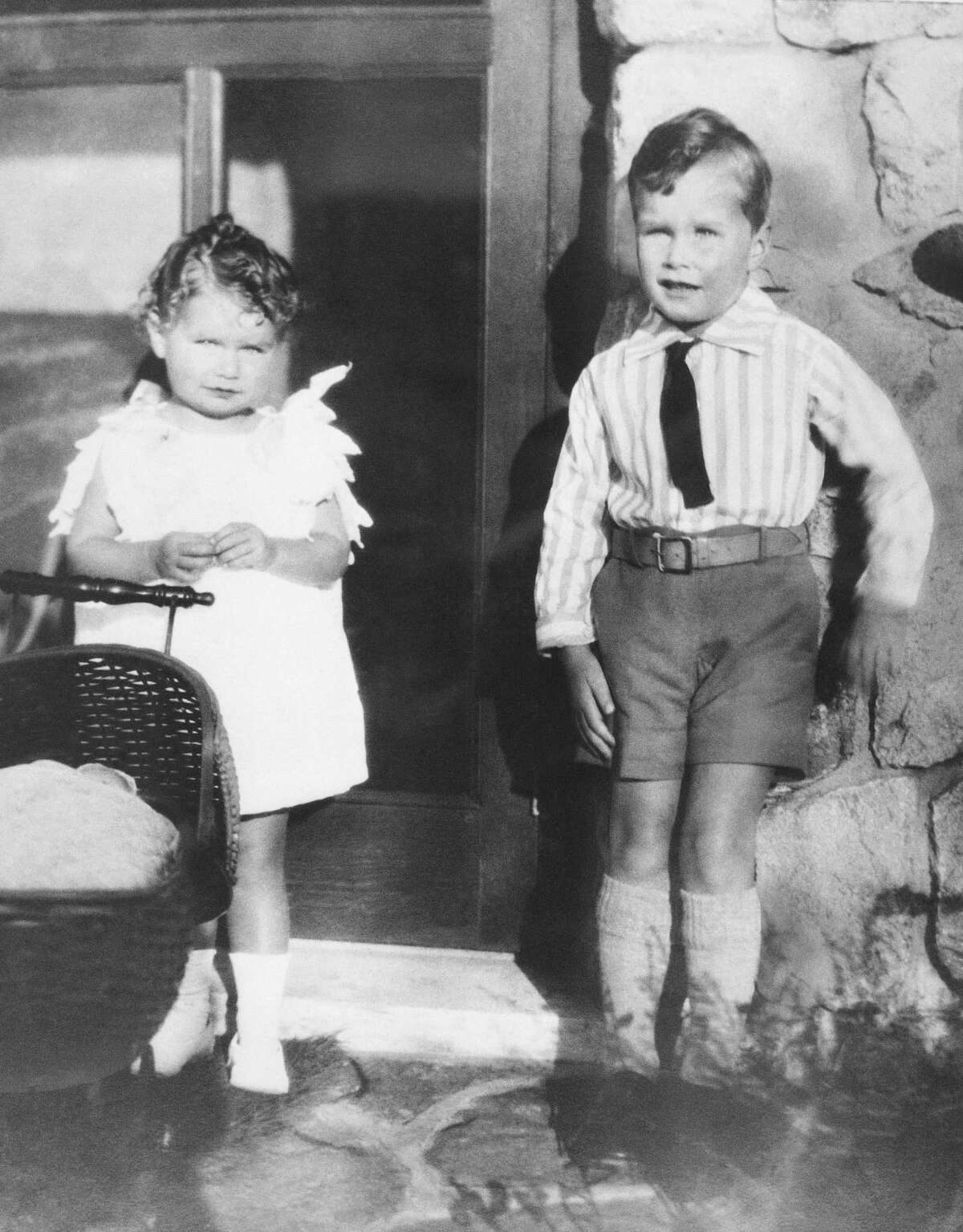 1930, George Bush with his sister in 1930.
