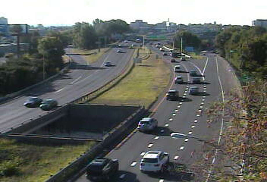 Route 8/25 south near Exit 3 in Bridgeport, Thursday morning Photo: Photo Via State DOT Traffic Camera
