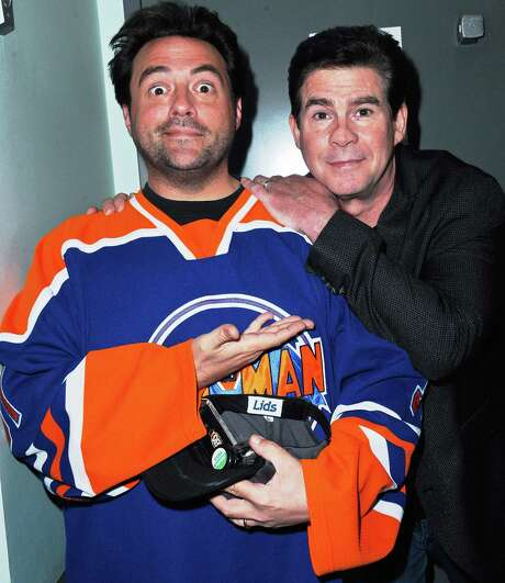 "Kevin Smith (left) and Ralph Garman will present ""Hollywood Babble-On"" at the Charline McCombs Empire Theatre on Saturday. Photo: Getty Images / 2014 Albert L. Ortega"
