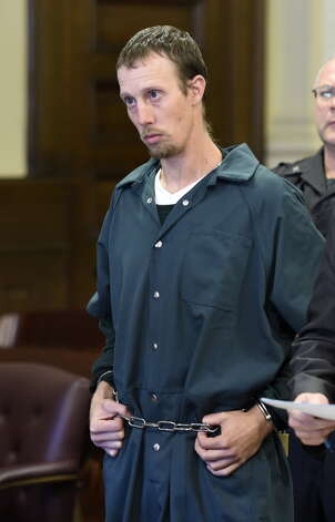Jacob Heimroth is arraigned on murder charges Monday morning Sept. 8, 2014 at Rensselaer County Court in Troy, N.Y. (Skip Dickstein/Times Union)