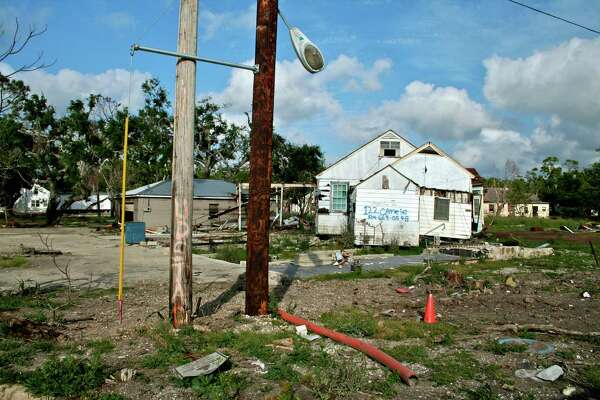 Katrina Aftermath, Port Sulphur, Louisiana, USA. Port Sulphur had never flooded prior to Katrina; wetlands erosion and subsequent land loss caused flood protection to fail.