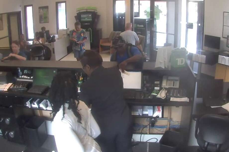 Security camera photo of suspect in TD Bank holdup, on Aug. 25, 2015 Photo: Provided Photo / Stratford Police