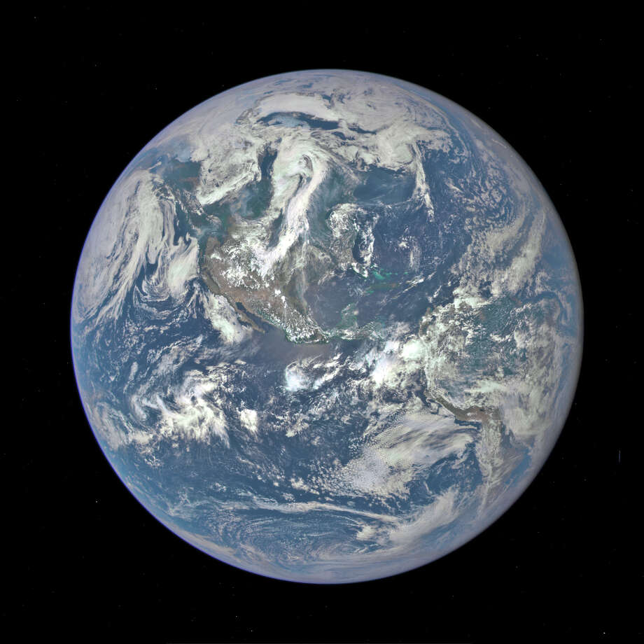 Last month, NASA released the first image of Earth from its Deep Space Climate Observatory satellite. The image shows a sunlit Earth from one million miles away. NASA says the photo was taken with a Earth Polychromatic Imaging Camera, a four megapixel camera and a telescope. No, you can't see Connecticut, but you can make out the outline of North America. Photo: NASA