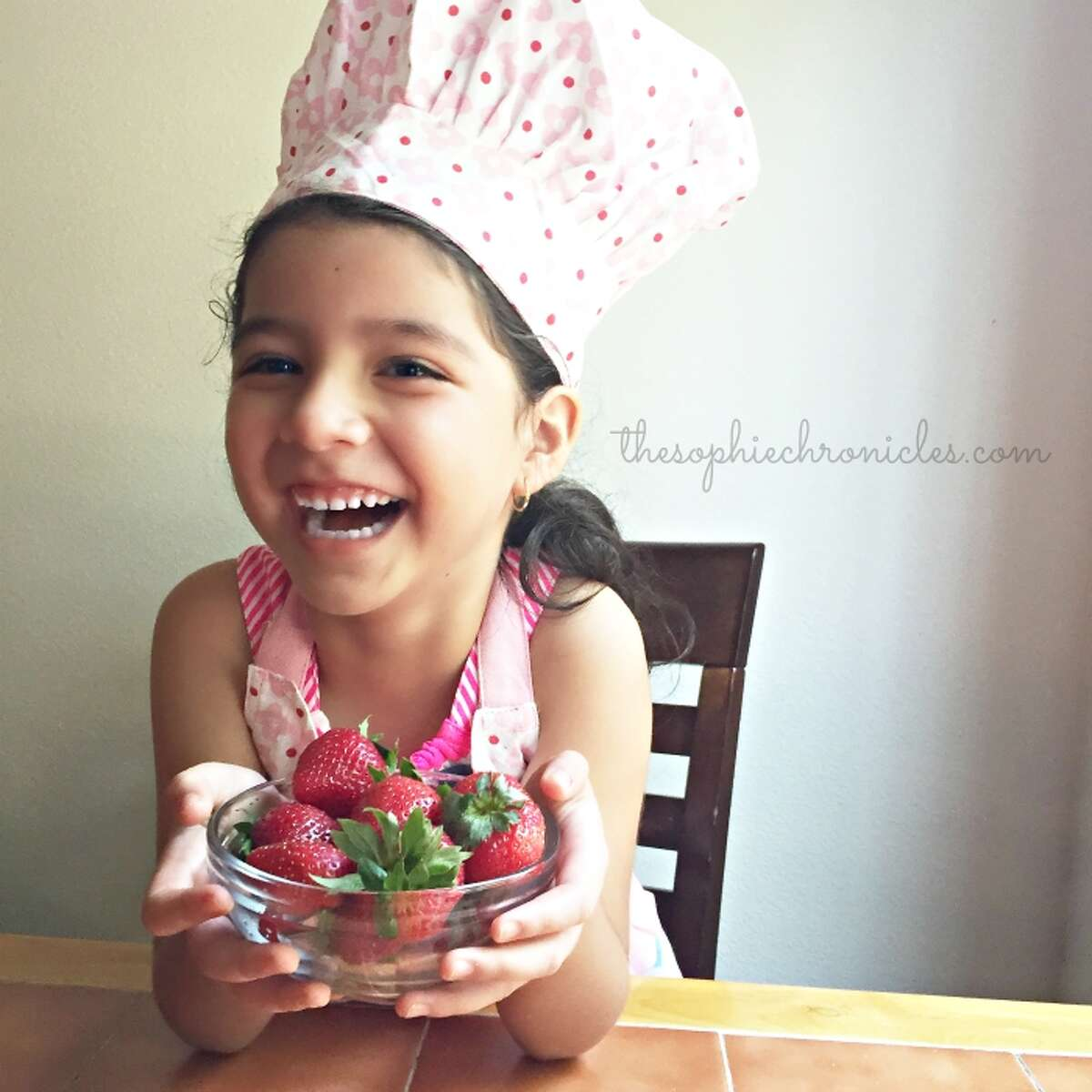 Sophie Arellano won second place in the Kids Berry Cook Off Contest with her recipe for Chocolate Chip Cookies with Strawberry Marshmallow Filling