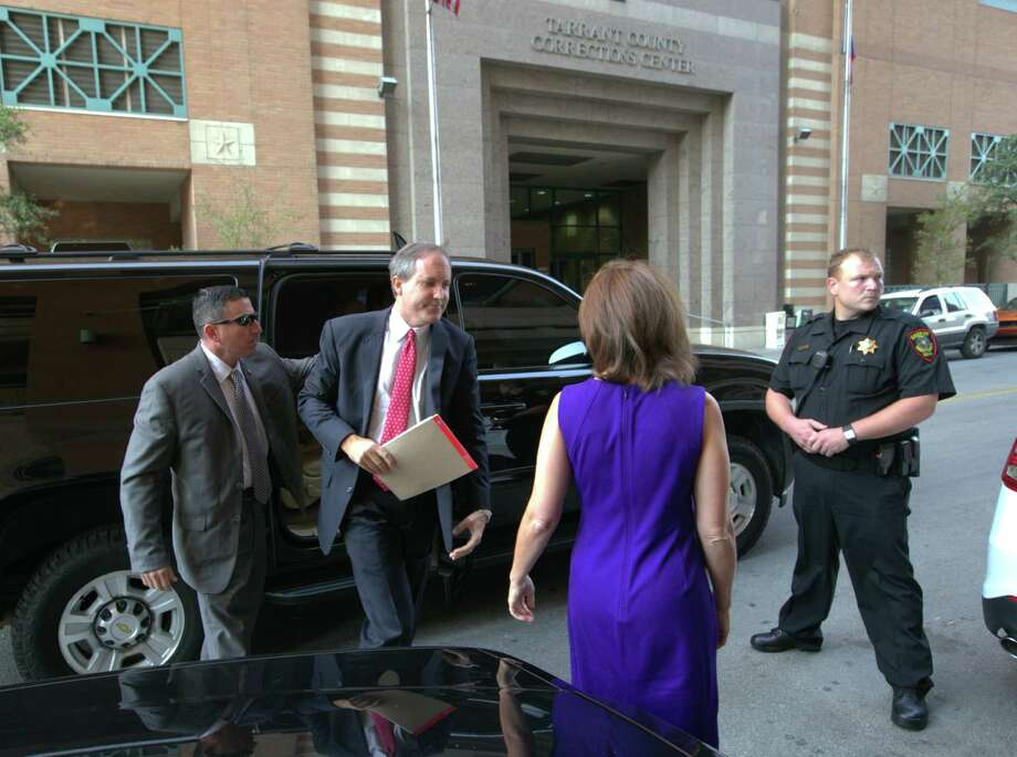 Texas Attorney General Ken Paxton arrives at the Tarrant County Courthouse for a hearing on his felony securities indictment. Paxton pleaded not guilty to charges alleging that he defrauded investors before he became the state's top lawyer. Photo: Rodger Mallison / Fort Worth Star-Telegram / Pool Star-Telegram