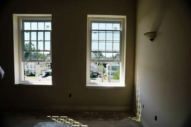 A view from the third floor looking out onto the residential area outside the former Tilley Ladder Co. building on Wednesday, Aug. 19, 2015, in Watervliet, N.Y.  The building is being turned into apartments.   (Paul Buckowski / Times Union) Photo: PAUL BUCKOWSKI / 00033040A