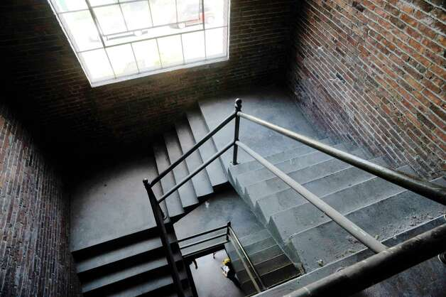 A view of the original stairwell at the former Tilley Ladder Co. building on Wednesday, Aug. 19, 2015, in Watervliet, N.Y.  The building is being turned into apartments.   (Paul Buckowski / Times Union) Photo: PAUL BUCKOWSKI / 00033040A