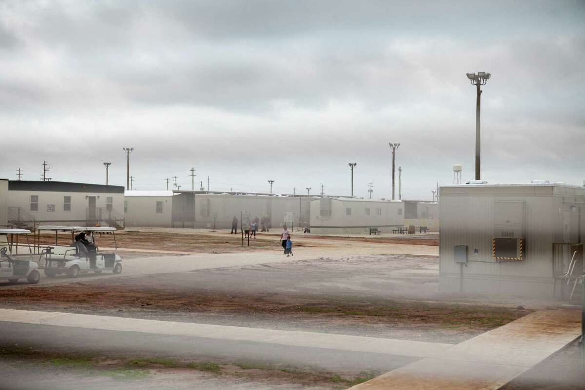 The South Texas Family Residential Center that houses thousands of women and children who were caught crossing the border illegally seeking asylum in the U.S., in Dilley, Texas, May 14, 2015. Lawmakers, advocates and others say confinement only compounds the suffering of women fleeing predatory gangs or domestic abuse in Central America. (Ilana Panich-Linsman/The New York Times) -- NO SALES; FOR EDITORIAL USE ONLY WITH STORY SLUGGED IMMIG DETENTION BY JULIA PRESTON. ALL OTHER USE PROHIBITED.