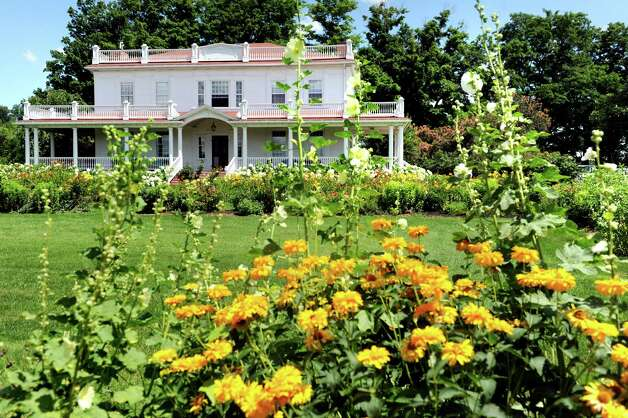 Farmhouse and gardens on Wednesday, July 22, 2015, at the Beekman 1802 farm in Sharon Springs, N.Y. (Cindy Schultz / Times Union) Photo: Cindy Schultz / 00032576A