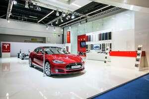 The Telsa Model S electric car.