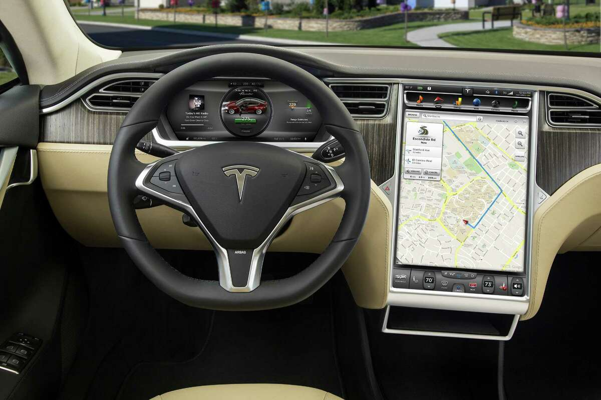 Tesla Model S interior and details.