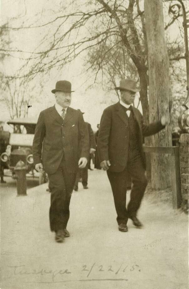 Julius Rosenwald and Booker T. Washington, Tuskegee Institute, 1915. (Photo courtesy Special Collections Research Center, University of Chicago Library/TNS) Photo: Handout, McClatchy-Tribune News Service