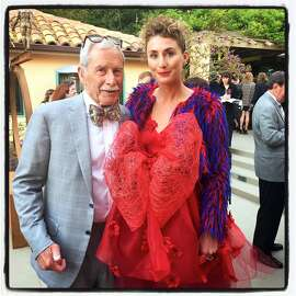 Philanthropist Maxwell Drever and his daughter, model Isabelle Drever, co-hosted the Hotbed fundraiser at their Tiburon home. Aug 2015.