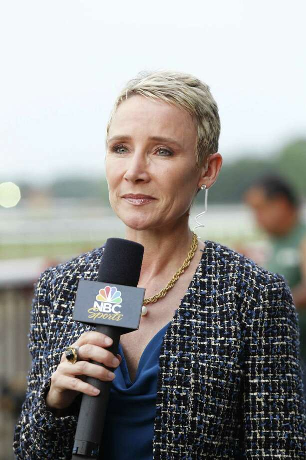 NBC horse racing reporter Donna Brothers. BELMONT STAKES -- Pictured: (l-r) -- (Photo by: Michael Cohen/NBC) ORG XMIT: Season: 2012 Photo: Michael Cohen/NBC / 2012  NBCUniversal Media, LLC