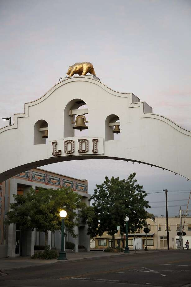 The historic Lodi Arch downtown was built in 1907. Lodi, Calif., on Wednesday, August 19, 2015. Photo: Preston Gannaway, Special To The Chronicle