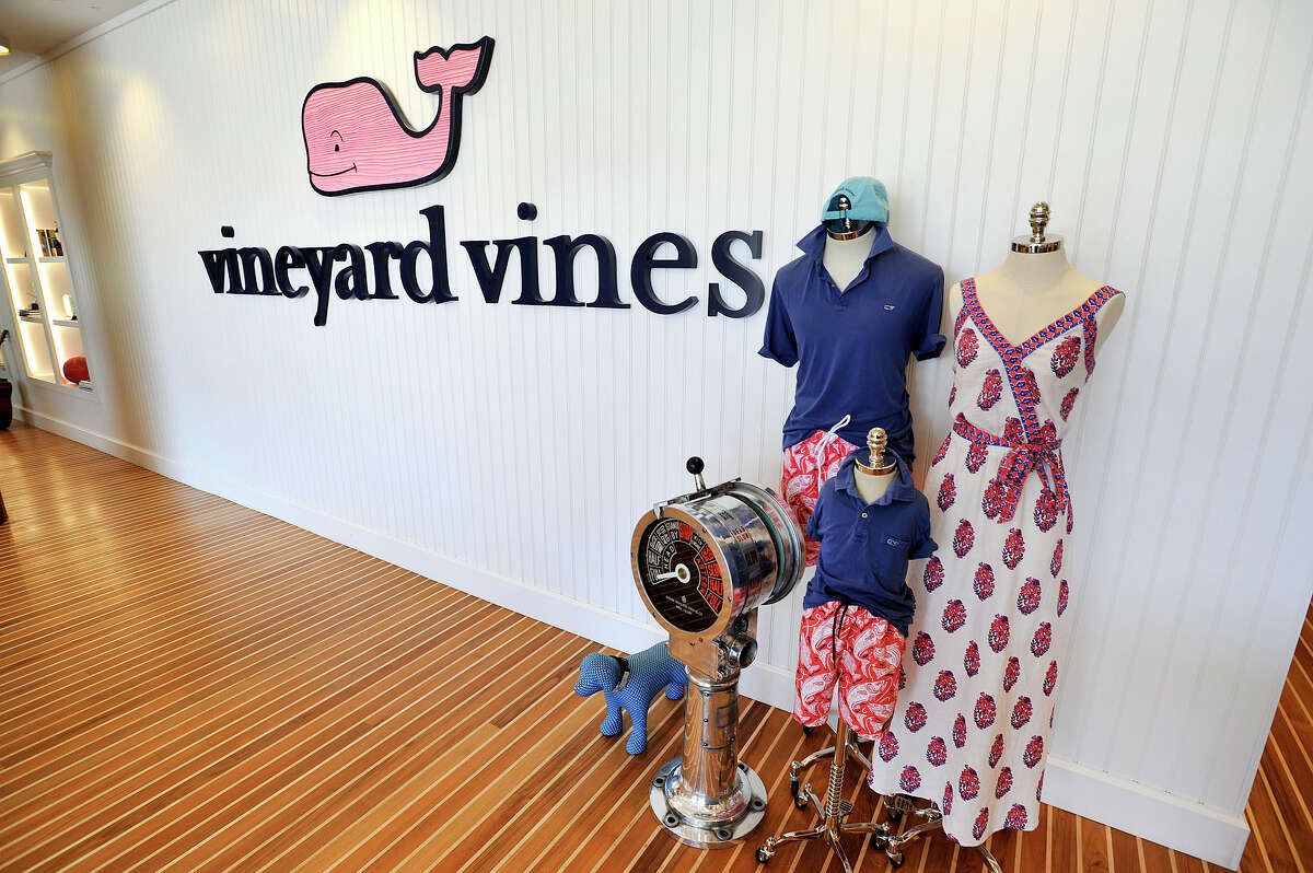 Stamford-based Vineyard Vines has sued a Rhode Island company it says is infringing on its pink whale logo.
