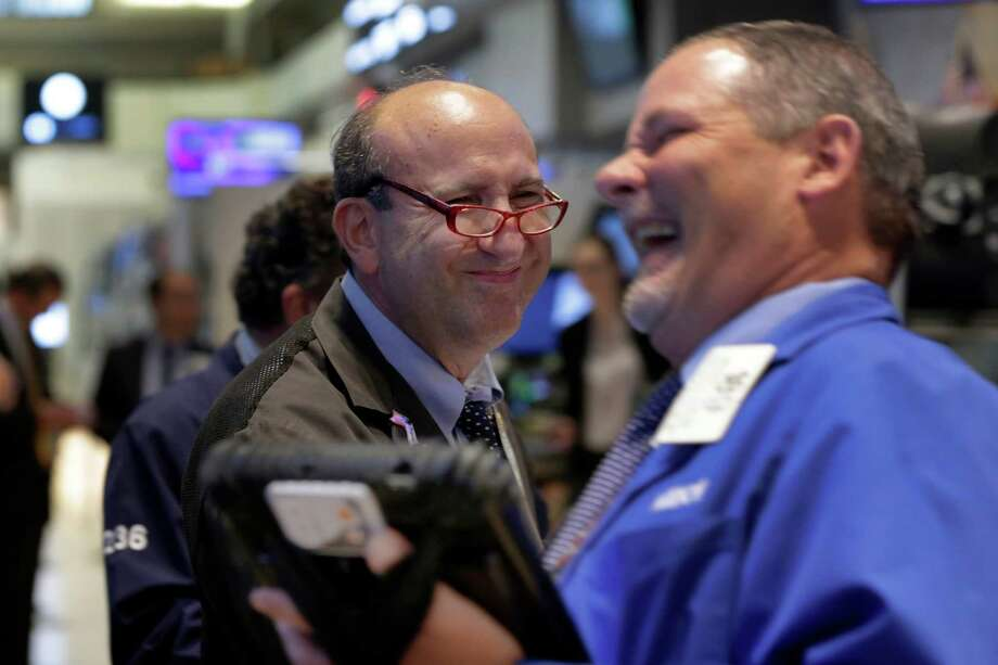 Traders on the floor of the New York Stock Exchange. U.S. stocks closed sharply higher on Thursday. Photo: Richard Drew /Associated Press / AP