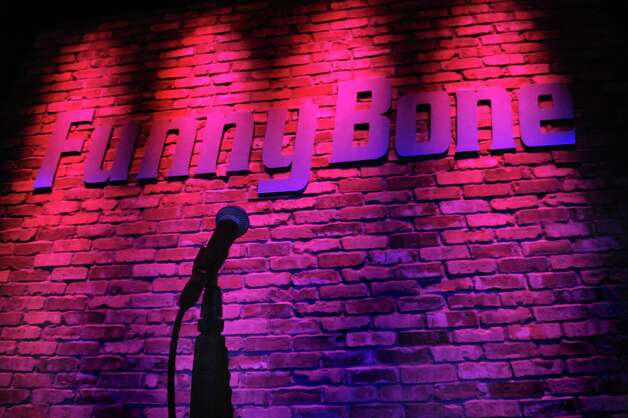The microphone is in place for the night's performer at Funny Bone Comedy Club on Thursday, Aug. 27, 2015, at Crossgates Mall in Guilderland, N.Y. (Cindy Schultz / Times Union) Photo: Cindy Schultz / 00033157A