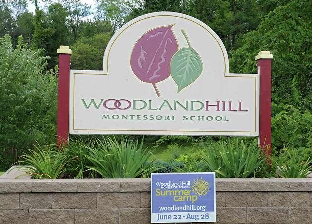 Sign for Woodland Hill Montessori School on Thursday, Aug. 27, 2015 in Rensselaer, N.Y. (Lori Van Buren / Times Union) Photo: Lori Van Buren / 00033153A