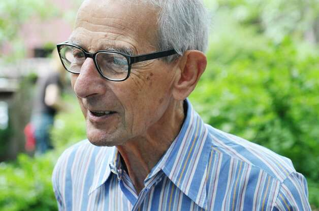 Werner Feibes, a retired architect, at his home on Tuesday, Aug. 25, 2015, in Schenectady, N.Y.  (Paul Buckowski / Times Union) Photo: PAUL BUCKOWSKI / 00033113A