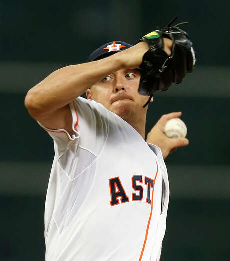 Scott Kazmir is 2-3 since coming to the Astros in a July 23 trade with Oakland but has a 2.41 ERA that ranks 12th in the majors in that span. For the season overall, he is 7-8 with a 2.39 ERA. Photo: Karen Warren, Staff / © 2015 Houston Chronicle