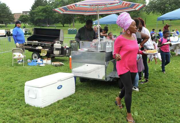 Grilled food and drinks served as part of the End-of-Summer City of Albany Department of Recreation's Allympics Event at Lincoln Park on Thursday Aug. 27, 2015 in Greenwich, N.Y. (Michael P. Farrell/Times Union) Photo: Michael P. Farrell / 00033105A