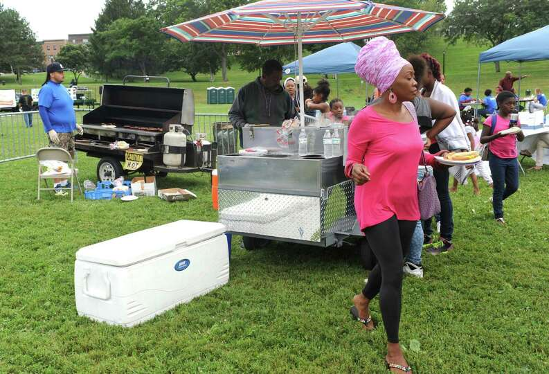Grilled food and drinks served as part of the End-of-Summer City of Albany Department of Recreation�