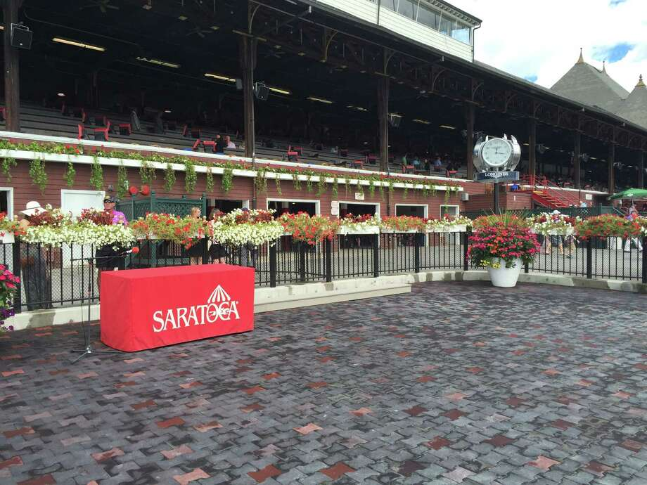 In one more day, all eyes that follow thoroughbred racing will be right here, on the winner's circle at Saratoga. This is where the winner of the 146th Travers Stakes will be getting his picture taken. Here's a quick trivia question for you. Who was the winner of last year's Travers Stakes? ... Time's up. I can't wait all day. The horse that got his picture taken with the Travers trophy last year was V.E. Day. I'm sure that at least half of you knew that. —Tim Wilkin