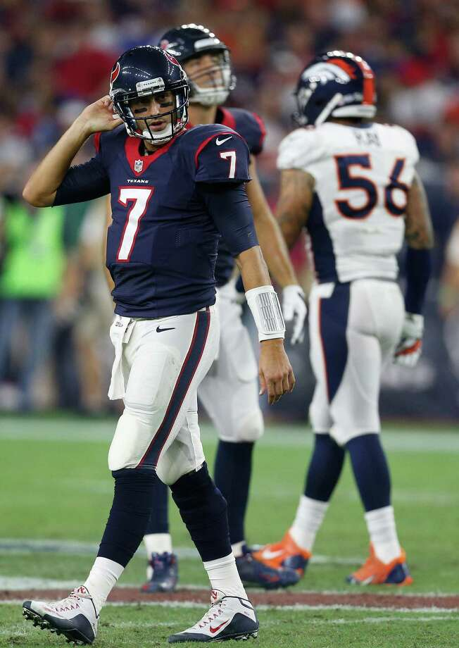 The Texans want to develop the Brian Hoyer who started 6-3 last year for the Browns and not the one who ended 1-3. Photo: Karen Warren, Staff / © 2015 Houston Chronicle