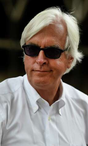 Trainer Bob Baffert speaks with the Times Union Thursday evening Aug. 27, 2015 in the barn area of the Saratoga Race Course in Saratoga Springs, N.Y.    (Skip Dickstein/Times Union) Photo: SKIP DICKSTEIN