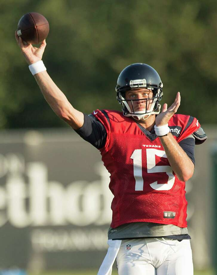 Quarterback Ryan Mallett has displayed good form on the practice field during training camp, at least until missing Thursday's practice, three days after being relegated to backup duty by Texans coach Bill O'Brien. Photo: Brett Coomer, Staff / © 2015 Houston Chronicle