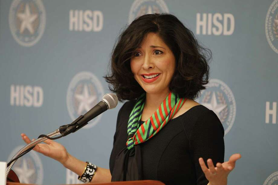 Juliet Stipeche was among HISD trustees who called for Superintendent Terry Grier to 