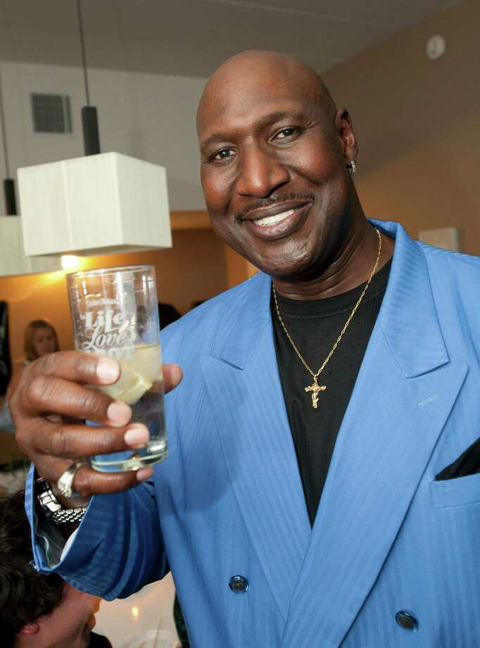 ** COMMERCIAL IMAGE ** In this photograph taken by AP Images for Captain Morgan, Darryl Dawkins, a former 76er, kicks off summer with the Captain Morgan Long Island Iced Tea house party in Philadelphia Thursday, May 26, 2011. (Mark Stehle/AP Images for Captain Morgan) Photo: Mark Stehle / AP Images