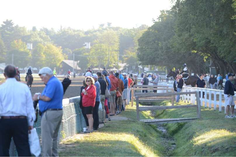 Friday morning was a busy one at Saratoga Race Course as people flooded the track for Travers Stakes