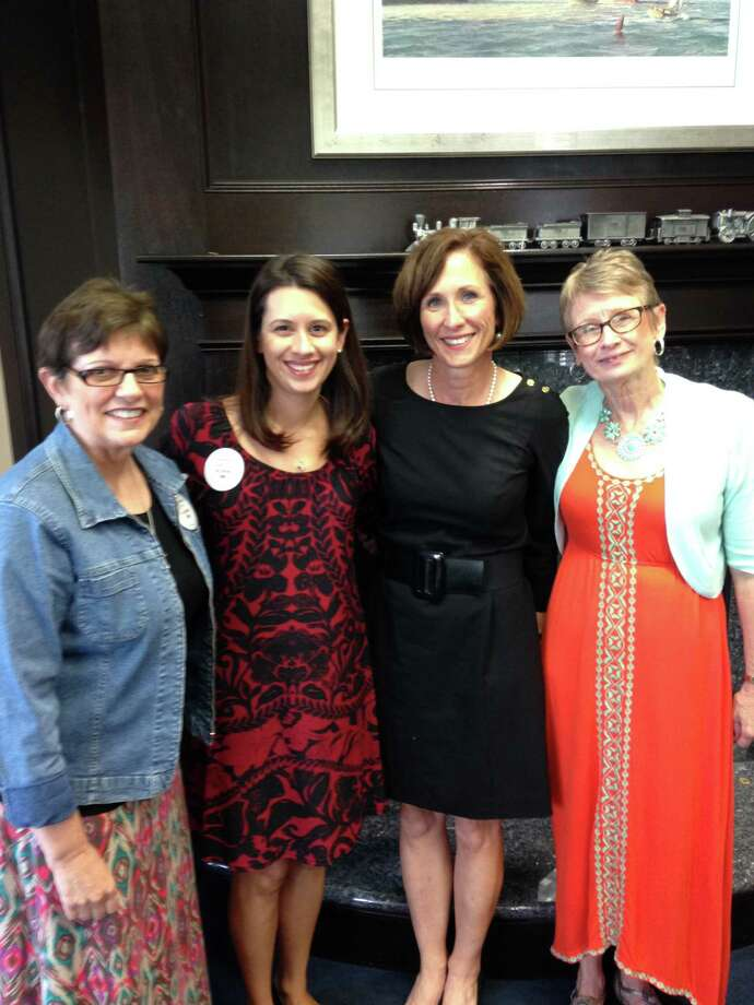 Representatives of Maddie's Mission visited state legislators to promote public education about Cytomegalovirus. From left are:Ann Blalock, Farah Armstrong, state Sen. Lois Kolkhorst, R-Brenham, and Becky Ghazi. Not pictured is Dr. Gail Demmler Harrison, CMV Expert at Baylor College of Medicine and Texas Children's Hospital. Photo: Courtesy Maddie's Mission