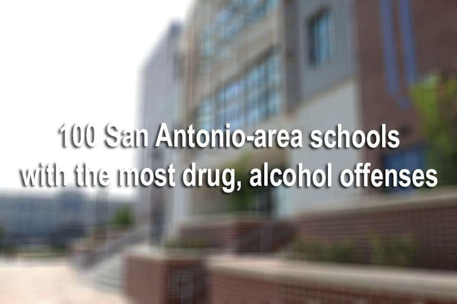 With records obtained by each school district in the San Antonio area, we looked at how many drug and alcohol seizures each campus had from the 2013-2014 school year.Here are the highest numbers of drug and alcohol offenses at school in the city. Photo: File