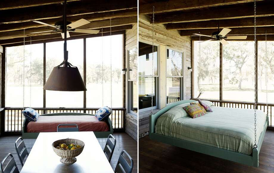 Rustic living is the dream of most Texans, and when a couple who owned property in East Columbia came to a Bayou City architectural firm and asked them to turn an existing cabin into an energy-efficient, the firm swung for the fences. Photo: Jack Thompson / Stern And Bucek Architects