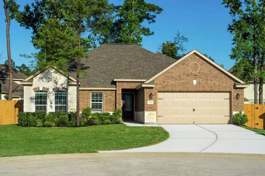 Ranch Crest has three- and four-bedroom homes with brick and stone accents.