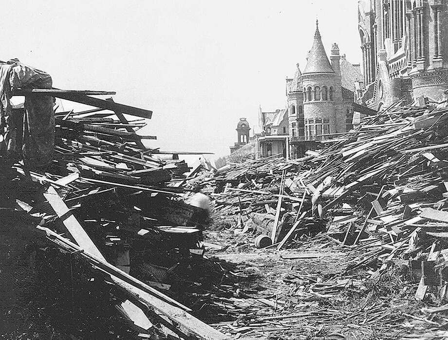 The Promise is set in Galveston Island, just before and after the Storm of 1900. (Scroll through the gallery for archival photos of Galveston after the storm.) Photo: Chronicle Files, Beaumont Enterprise Files, University Of Houston Libraries Special Collections, AFP/Getty Images, The Associated Press / SISTERS OF CHARITY