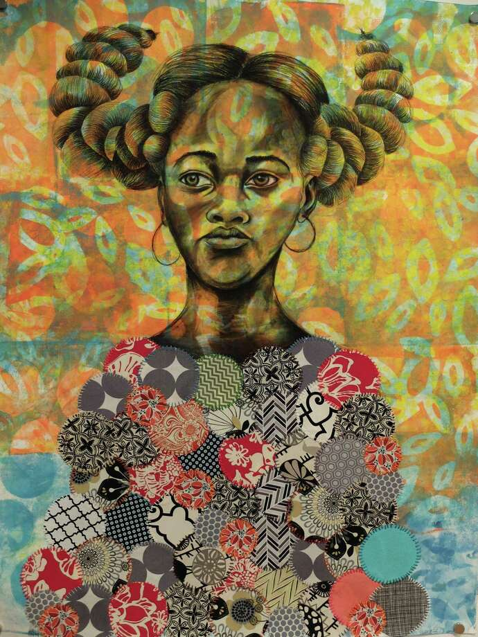 """Quilted Angel"" is among the recent works by Delita Pinchback Martin in ""I Come From Women Who Could Fly,"" on view at Texas Southern University. Photo: Molly Glentzer"