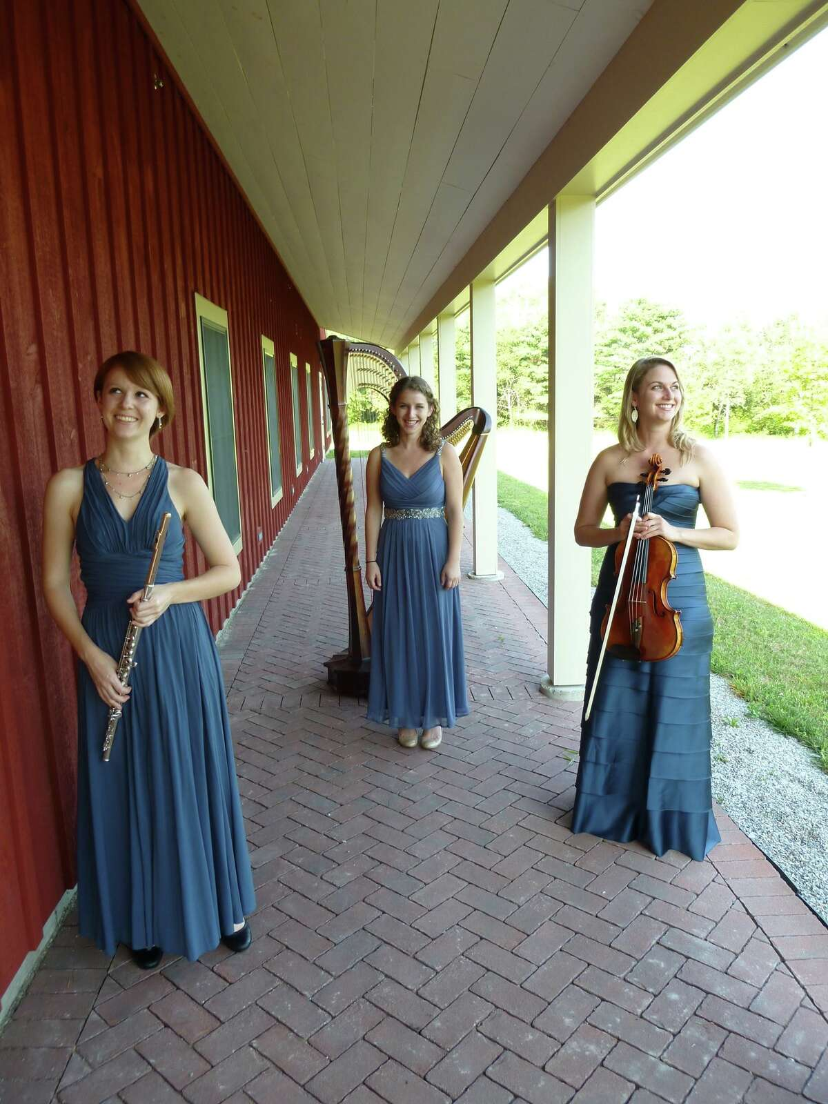 The Deciduous Trio of flutist Amulet Strange, from left, harpist Hope Cowan and violist Stephanie Meintka will open the 2015-16 season of the Phil Kramer Recital Series at New Hope Lutheran Church.