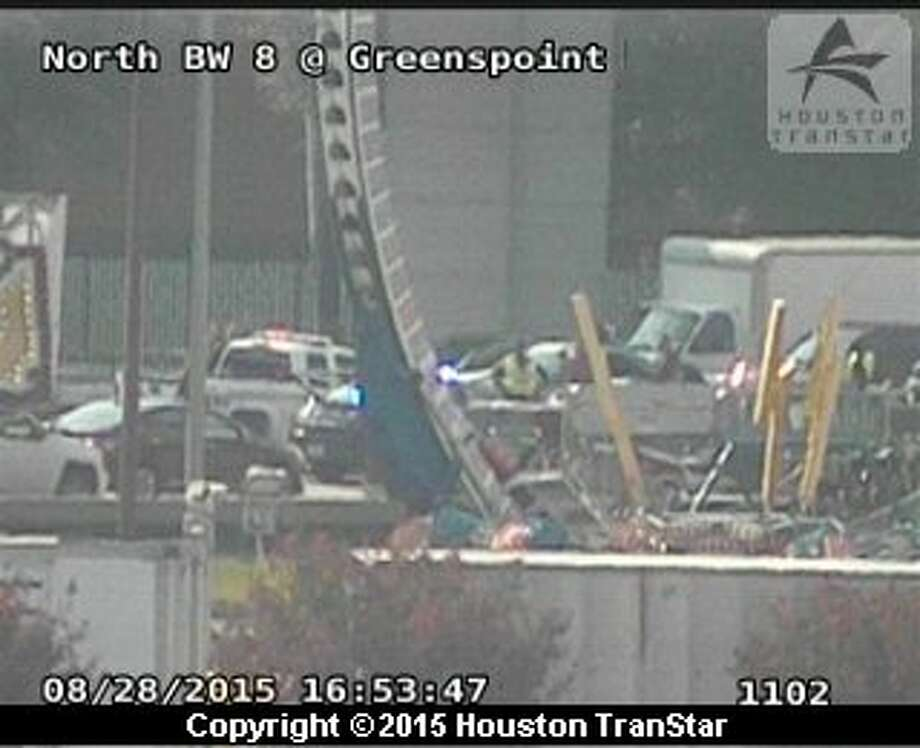 A three-vehicle accident on Interstate 45 North near Beltway 8 North is impacting rush hour traffic Friday, Aug. 28, 2015. Photo: Houston TranStar