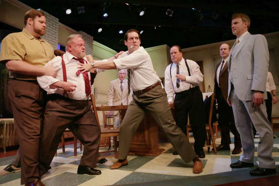 "Reginald Rose's riveting jury-room drama ""12 Angry Men"" bows this week at A.D. Players. Photo: Jon Shapley, Staff / © 2015 Houston Chronicle"