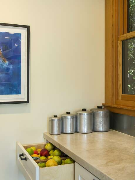 Sarah Deeds of Deeds Design used California cooler drawers, which have ventilation holes in the back, for produce storage in this Rockridge home on the tour. Photo: Kenneth Rice, Kenneth Rice Photography