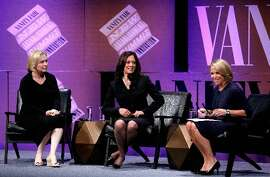 (From left) Kirsten Gillibrand, Kamala Harris and Katie Couric at 2014 Summit