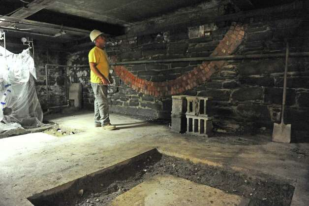 Floors are being reinforced to accommodate newer heavier fire engines in the 19th-century Engine 1 station at Western and Washington Avenues on Friday Aug. 28, 2015 in Albany, N.Y.  (Michael P. Farrell/Times Union) Photo: Michael P. Farrell / 00033171A